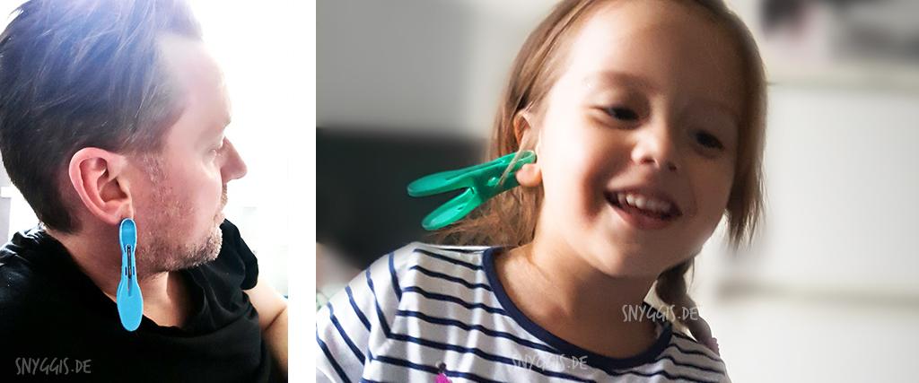 Wäscheklammer-Ohrringe