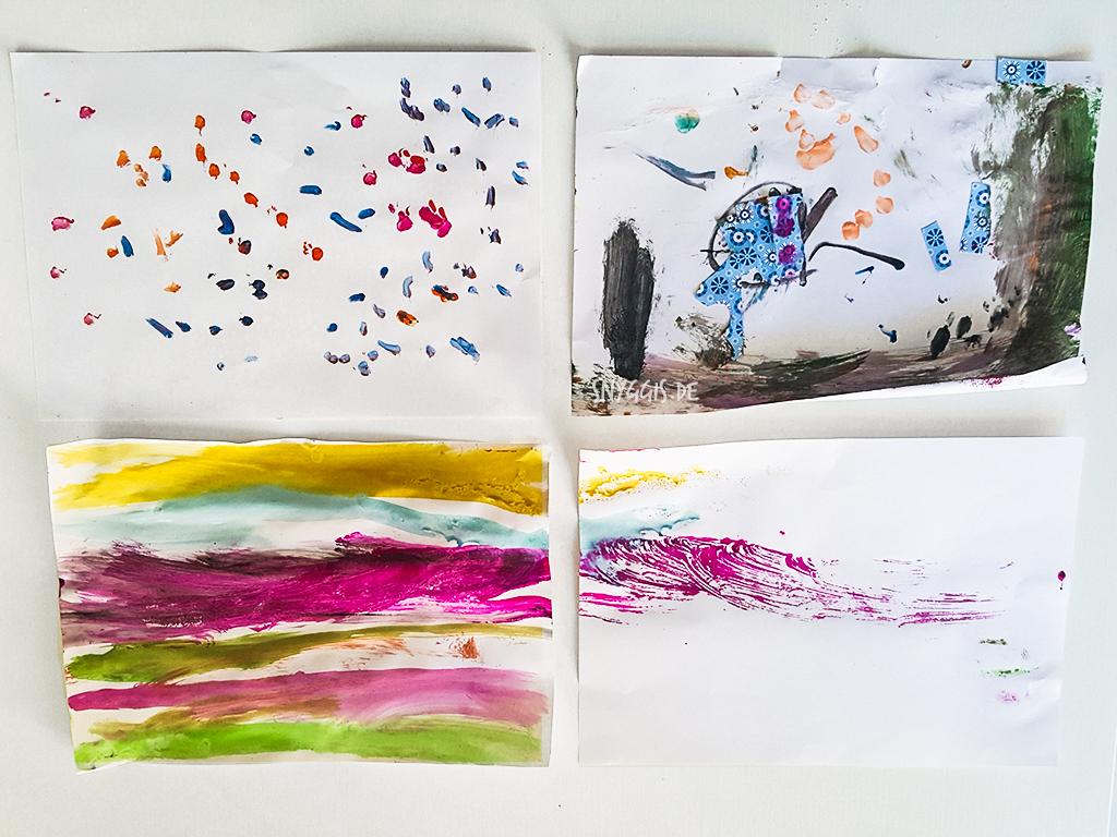 Malen mit verschiedenen Techniken