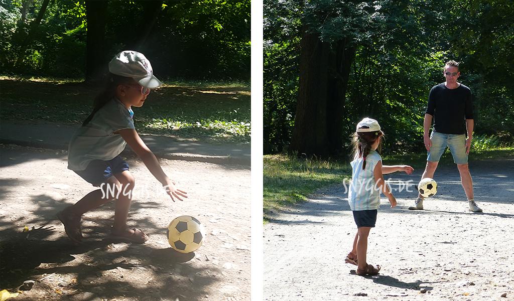 eine kleine Auszeit und Fußball spielen