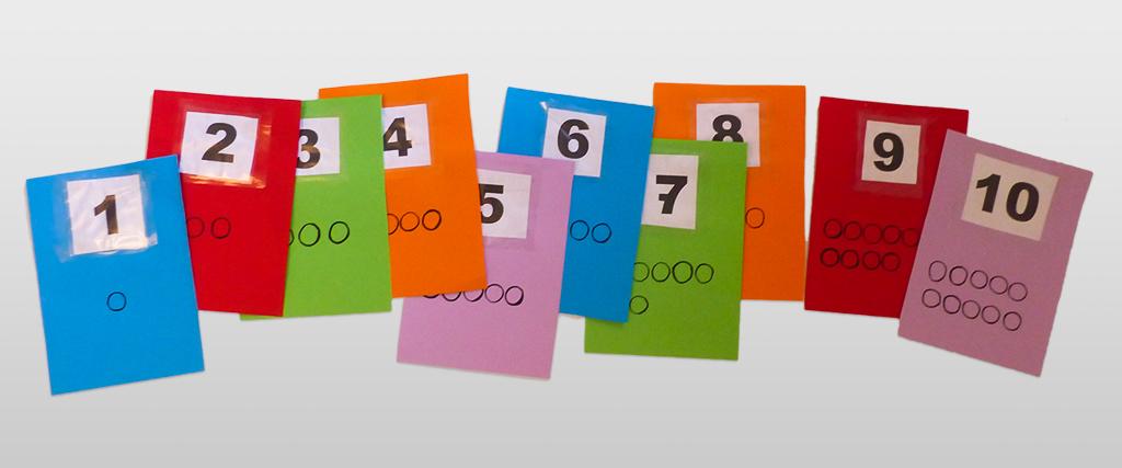 Zählenlernkarten
