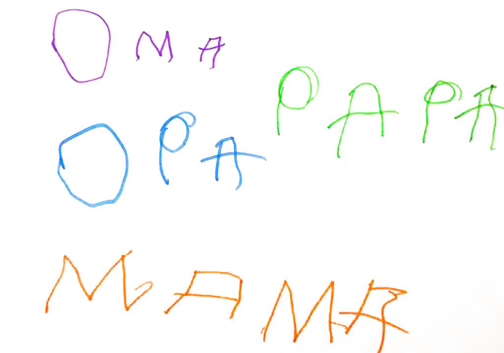 erste Wörter-Oktober2017 Mama, Papa, Oma, Opa