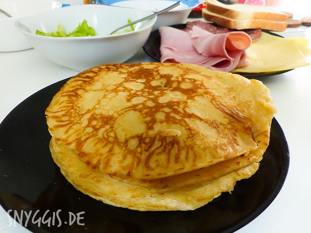 Pfannekuchen-Frühstück