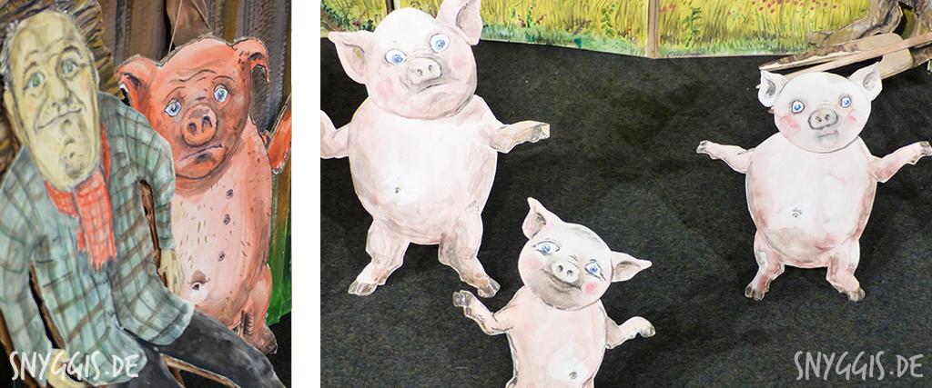 Bühnenbild - Die 3 kleinen Schweinchen