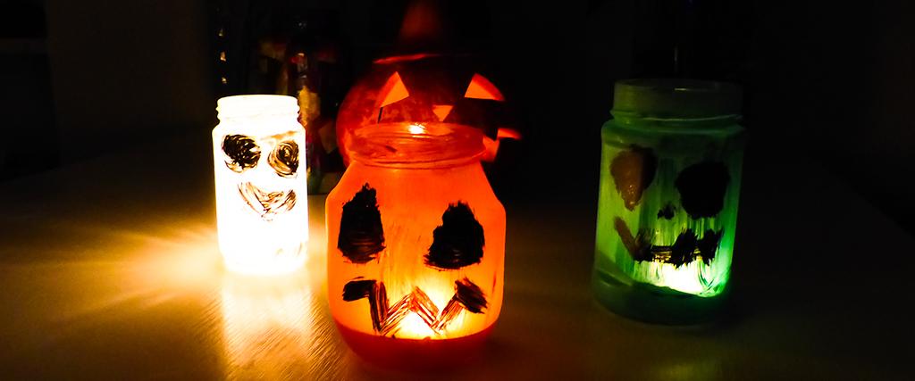 Halloween-Windlichter