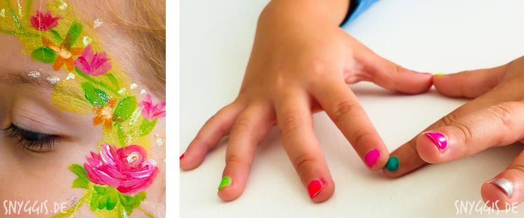Kinder-Nagellack und Kinderschminke