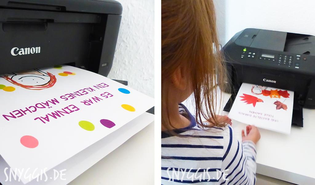 Mini-Snyggis wartet auf die Druckergebnisse
