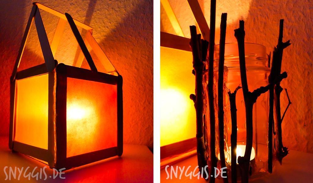 Laternenhaus und Windlichtglas