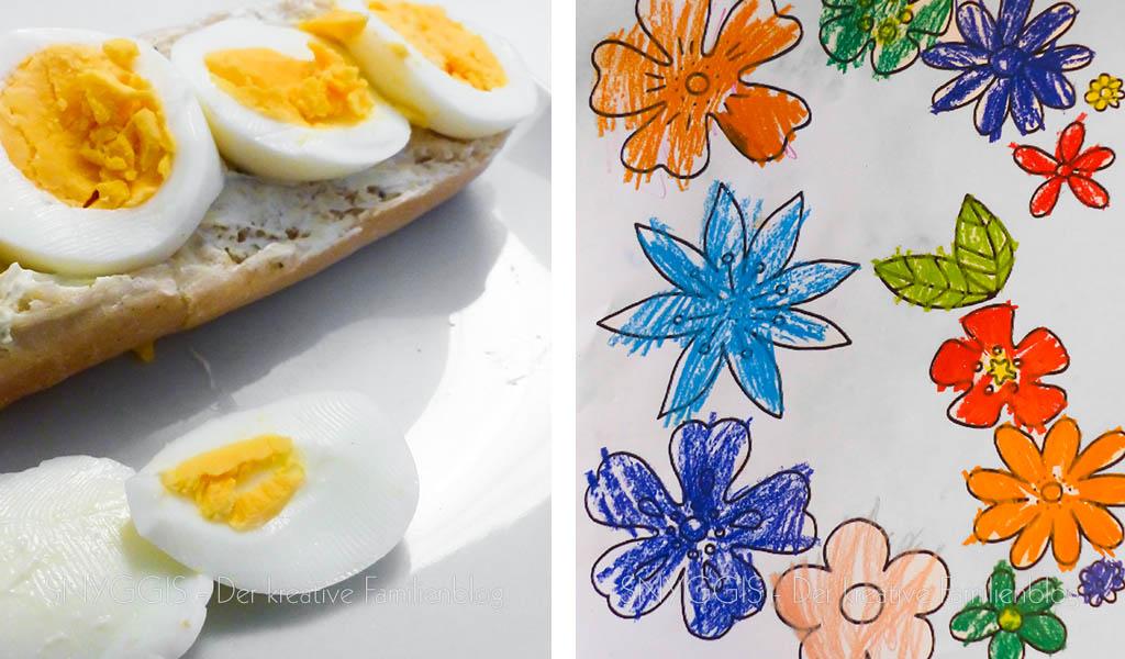 Frühstück und Ausmalbild