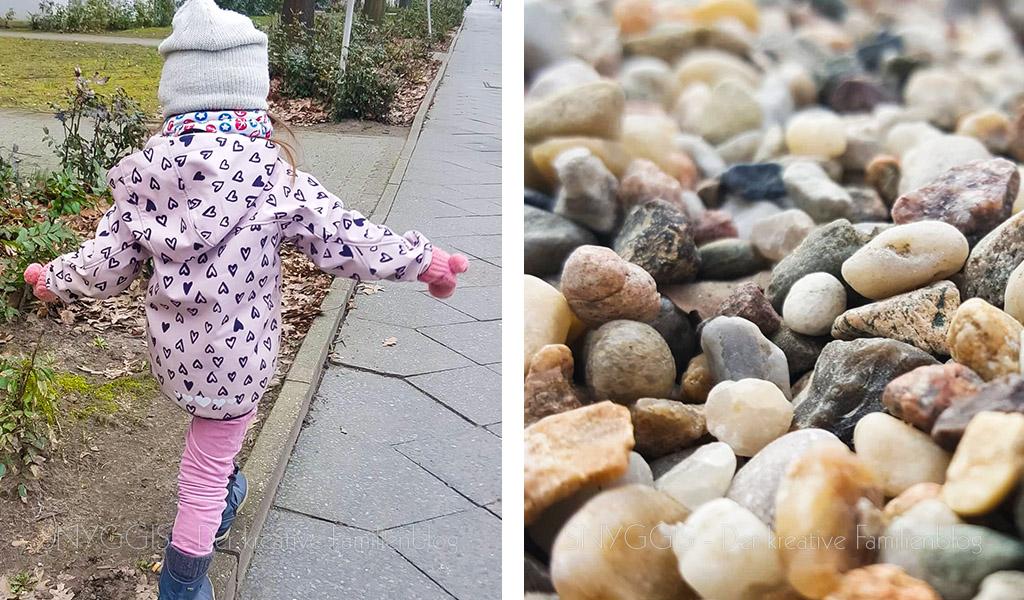 Balancieren und Kieselsteine