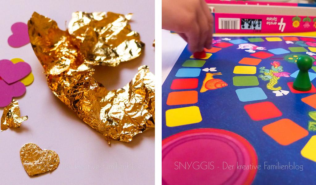 Blattgold und Spielen