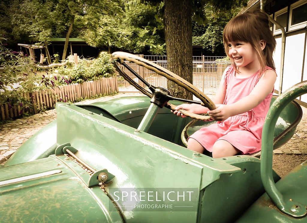 auf altem Traktor