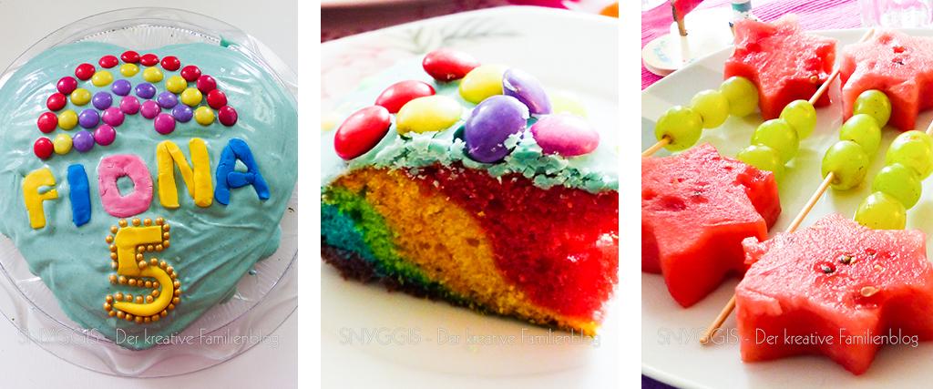 Regenbogenkuchen und Zauberstäbe