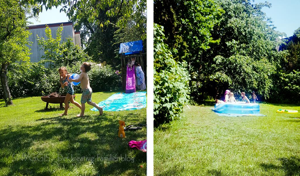 Spielen und plantschen im großen Garten