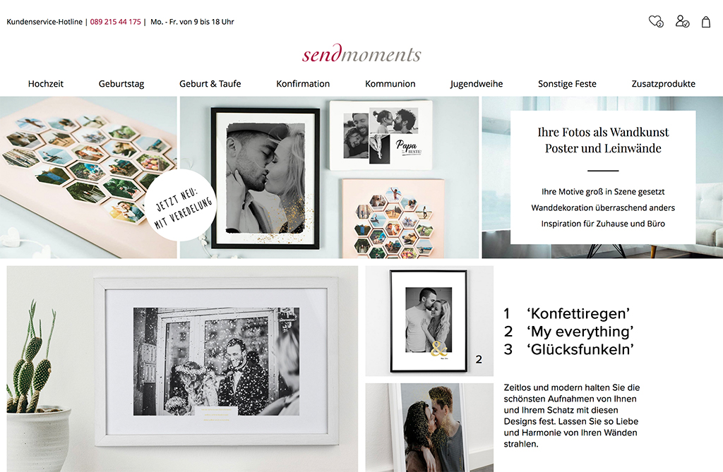 sendmoments Wandbilder