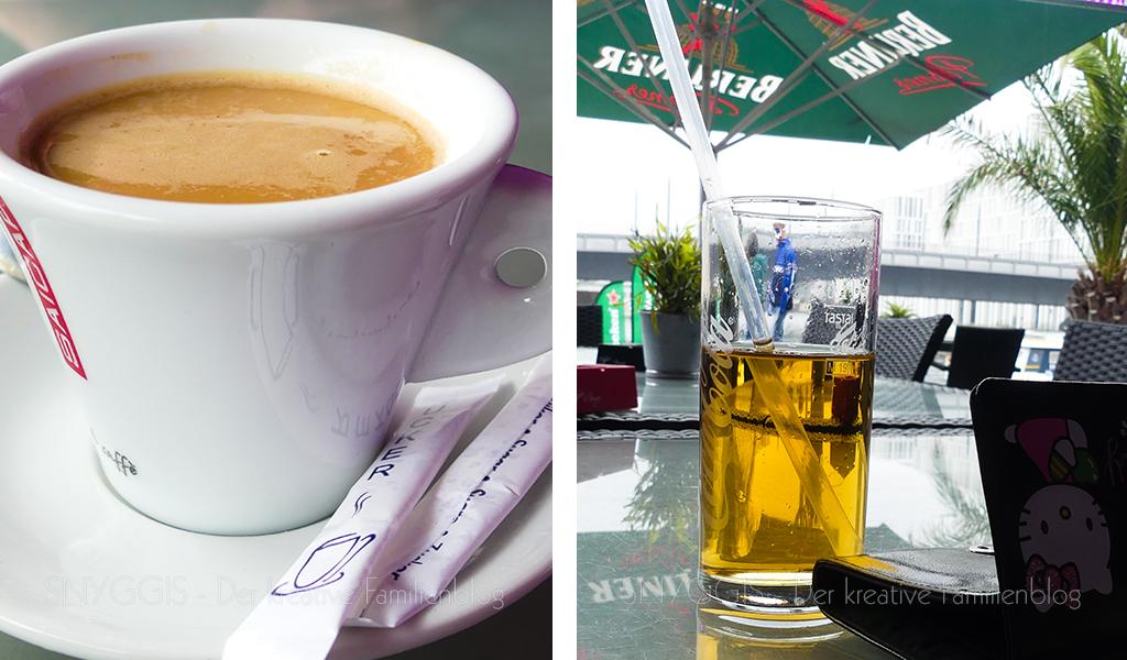 Kaffee und Apfelsaft