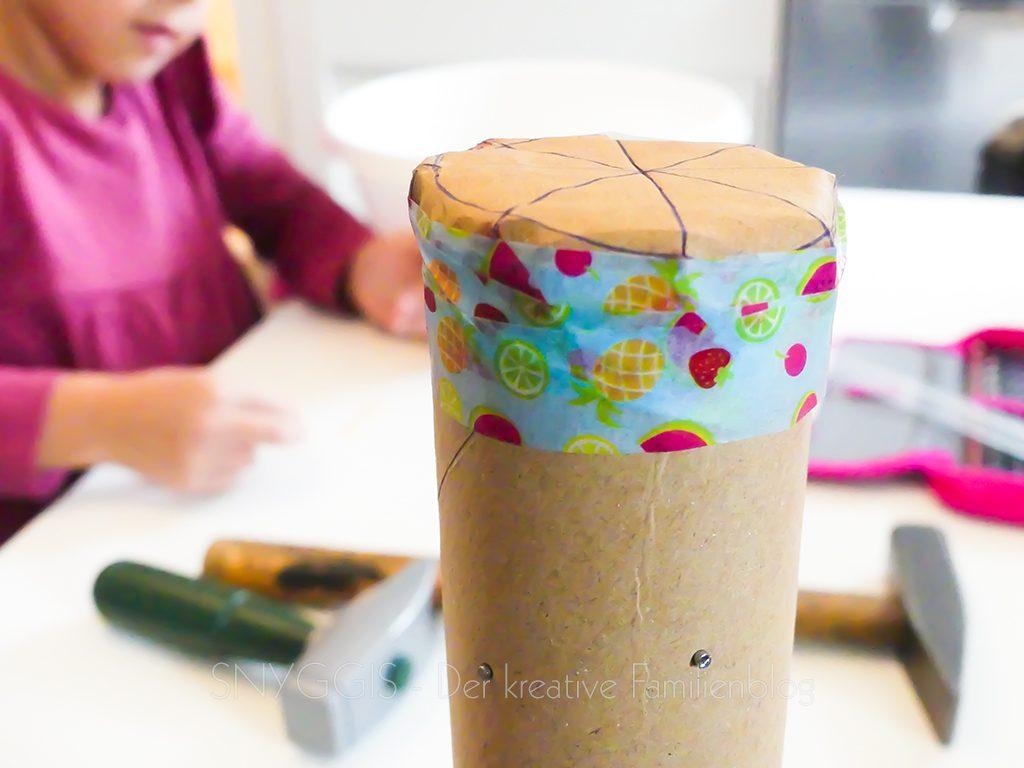 Deckel mit Tape festkleben