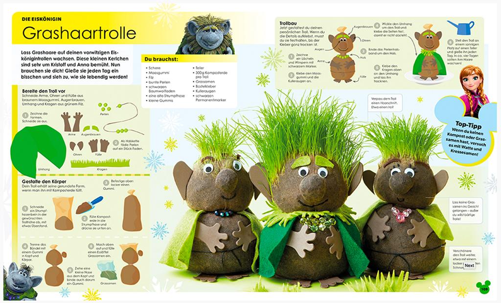 Screenshot Disney Ideenbuch
