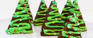 Weihnachtsbaum Brownies