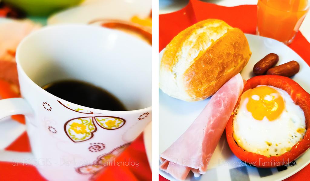 Sonntag-Frühstück-Eier