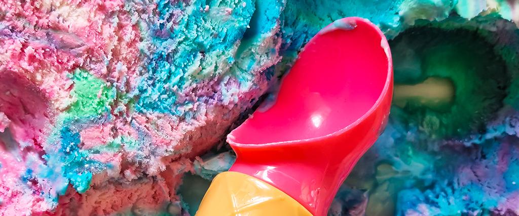 Meerjungfrauen-Eis selber machen